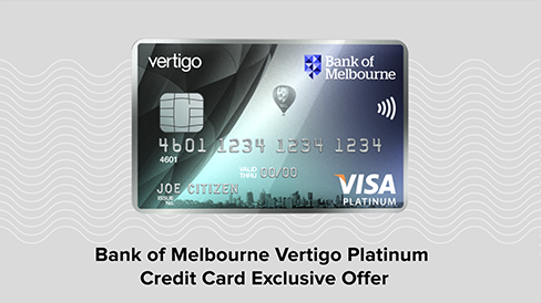 Bank of Melbourne Vertigo Platinum Credit Card Exclusive Offer