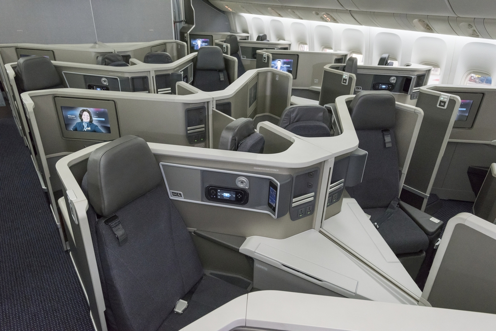 American Airlines Business Class cabin