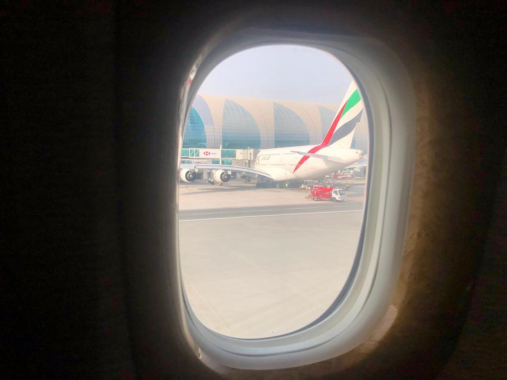 EK146 arrival into Dubai