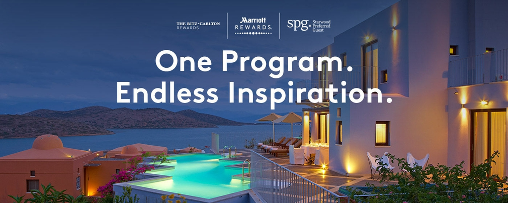 Marriott rewards, Ritz-Carlton rewards, and Starwood Preferred Guest joined