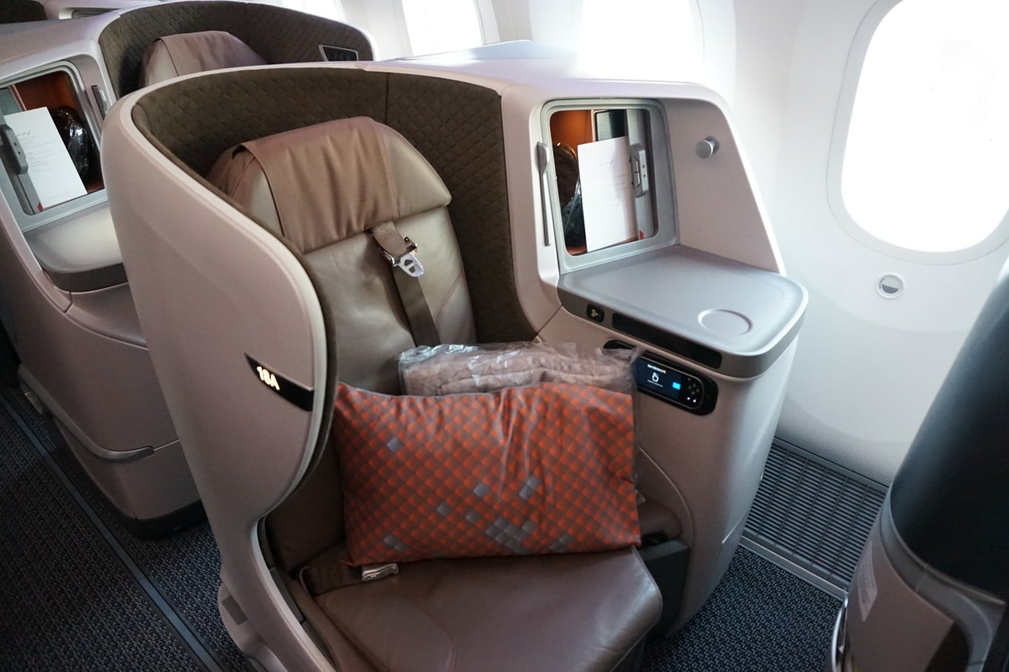 Singapore Airlines 2018 Business Class