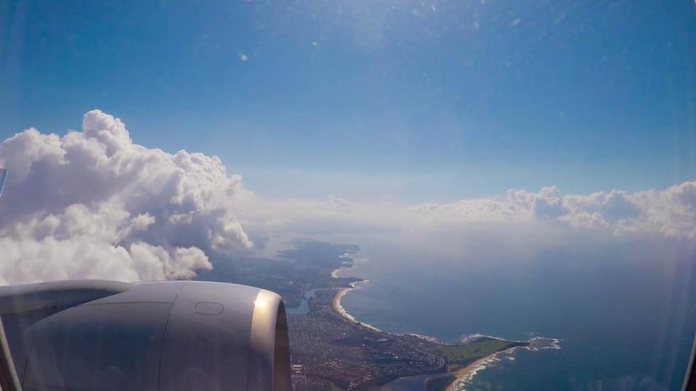 Long Reef Point from flight AA72