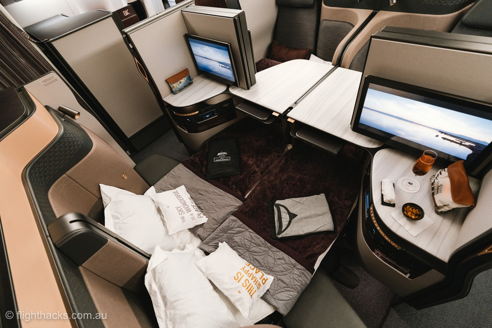 Qatar Airways Qsuite quad pod