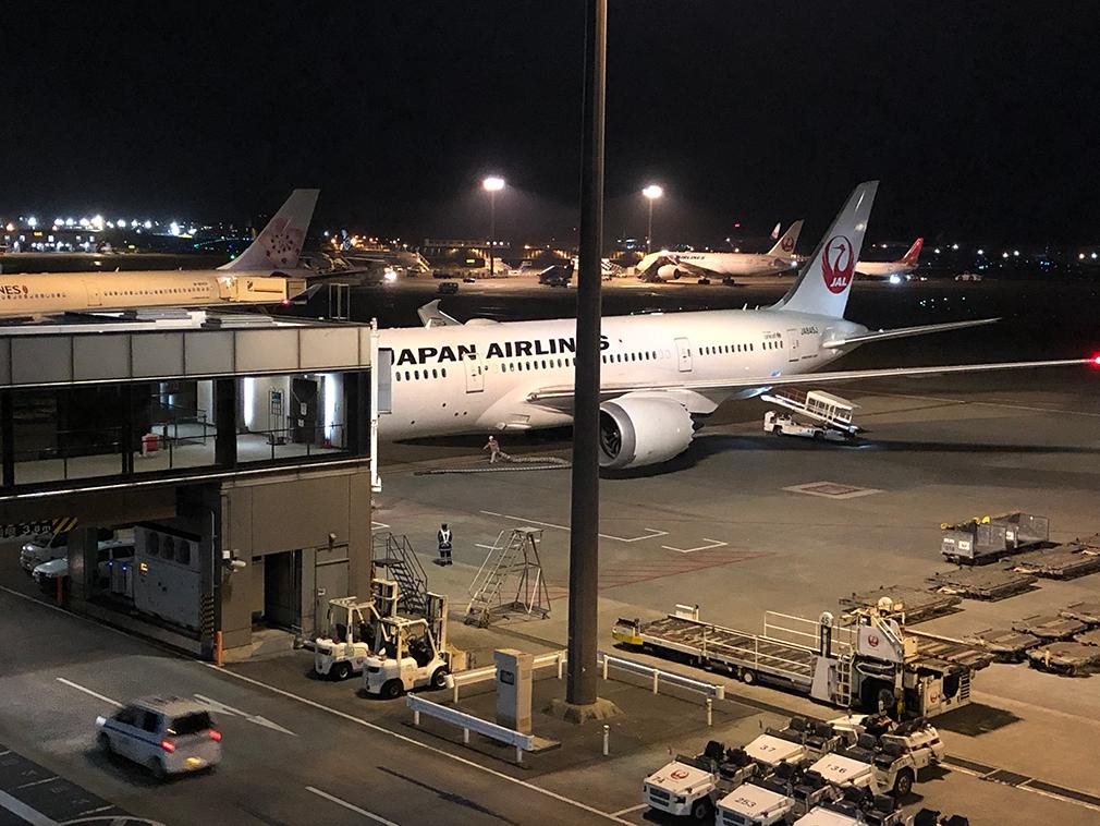 JAL B787 Dreamliner at Narita airport