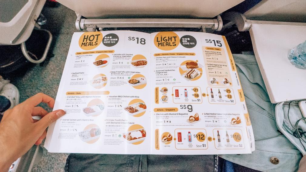 Scoot Air menu food