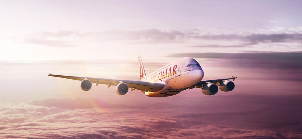 Official photo of the Qatar A380