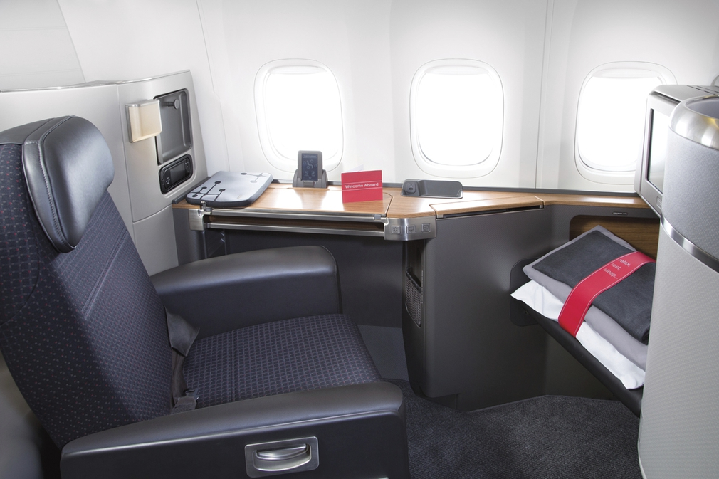 American Airlines First Class seat