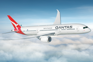 Qantas Dreamliner at cruising altitude