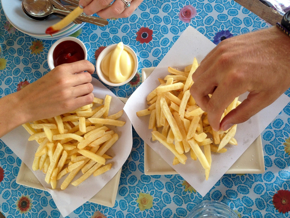 Double dipping french fries