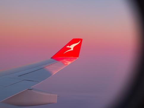 Airplane wing hero Qantas