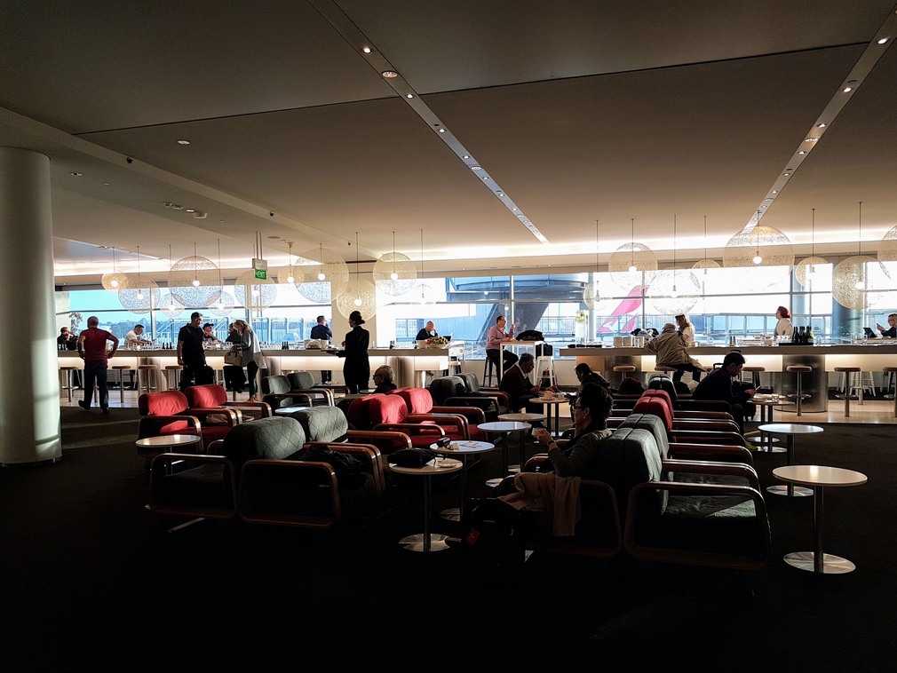 Qantas Business Lounge in Sydney