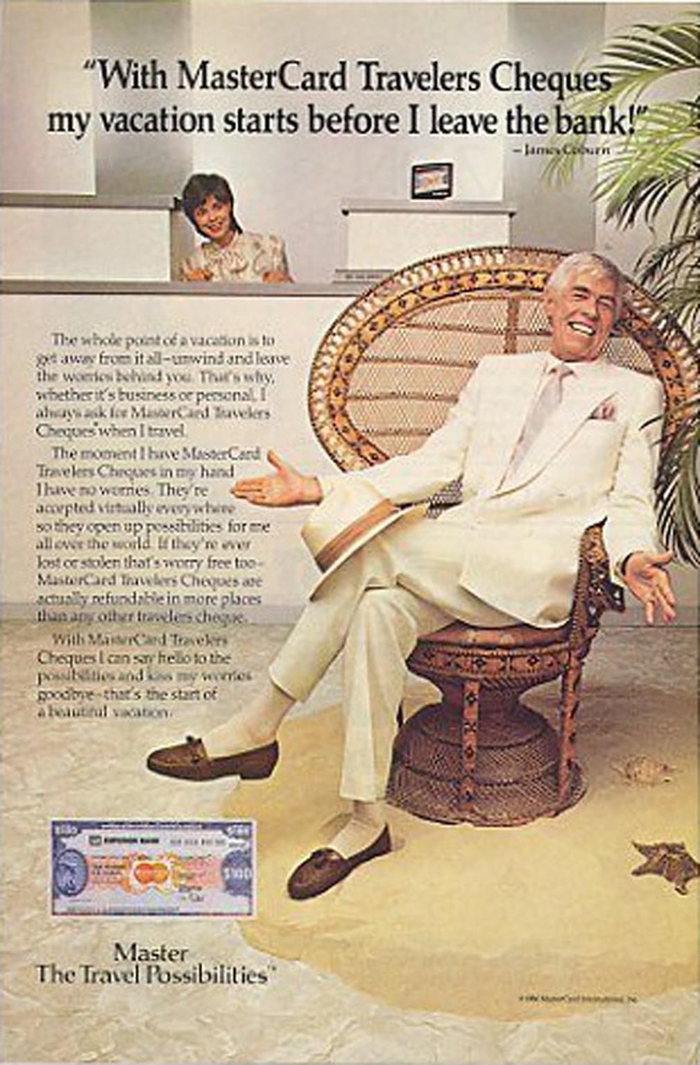 Mastercard vintage credit card ad 1986