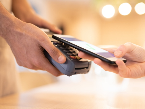 Paying on EFTPOS with phone
