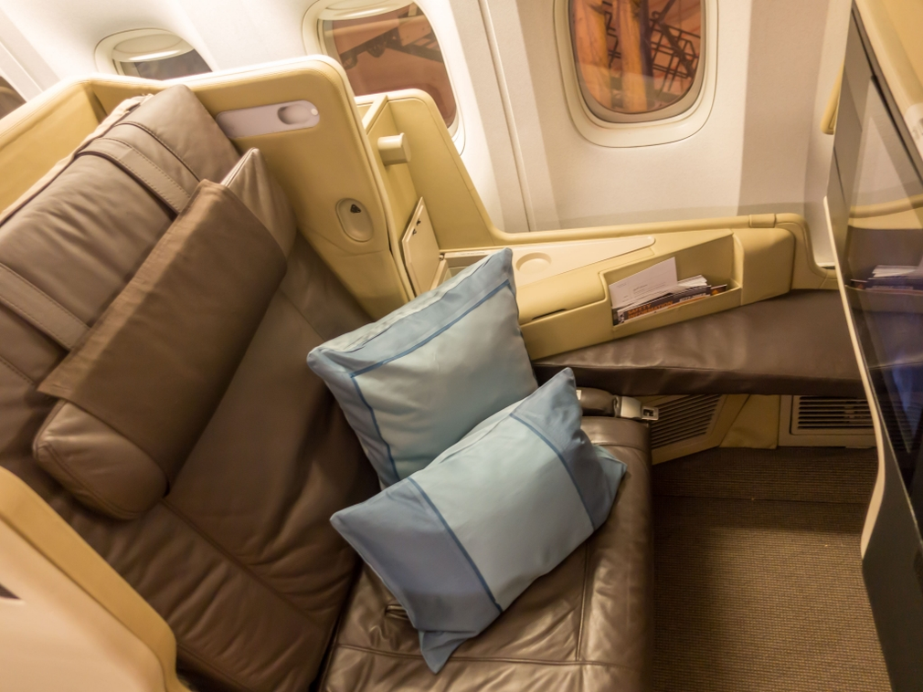 Singapore Airlines 2006 Business Class seat