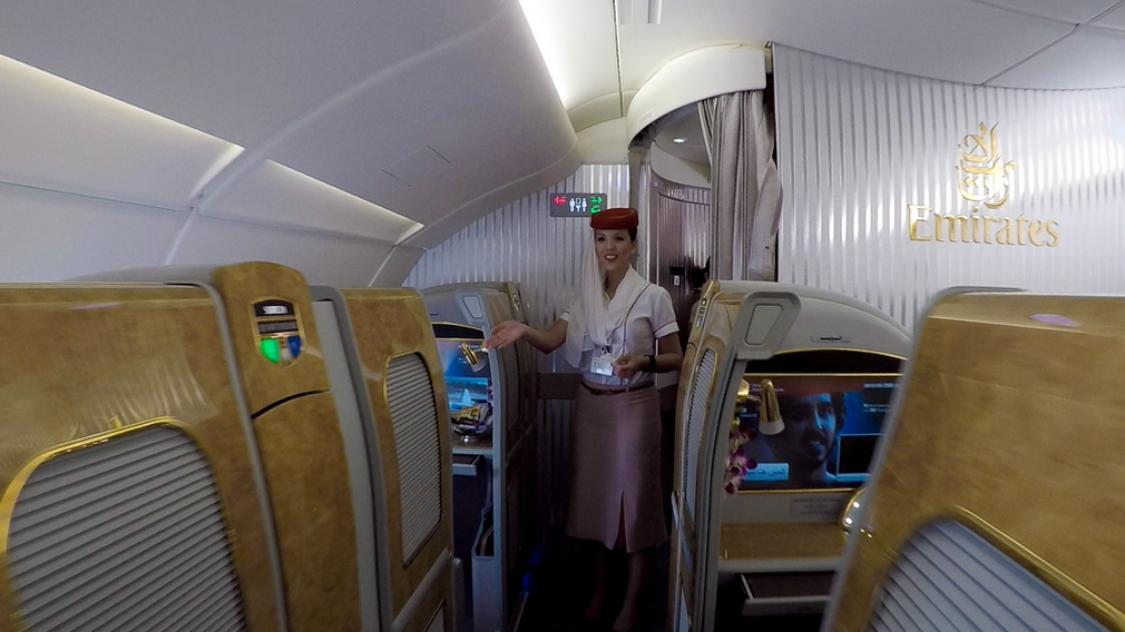 Emirates First Class Cabin A380