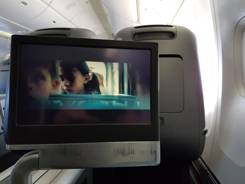 Qantas business class entertainment