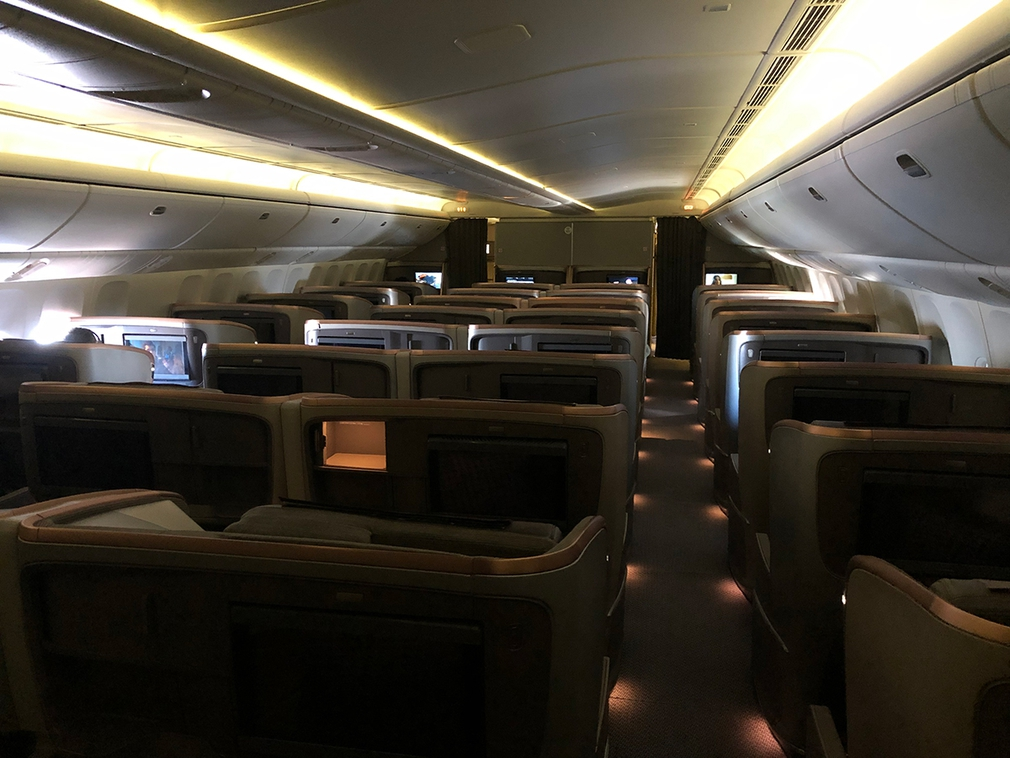 Singapore Airlines new business class cabin