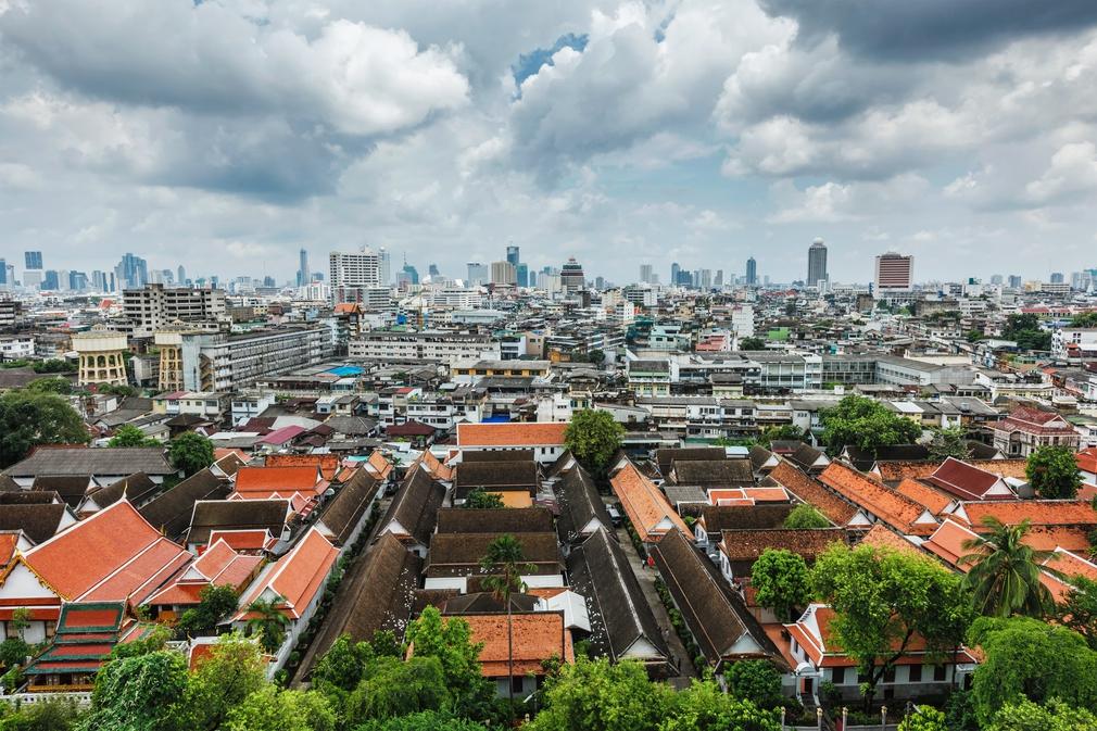 The vast sprawling city of Bangkok
