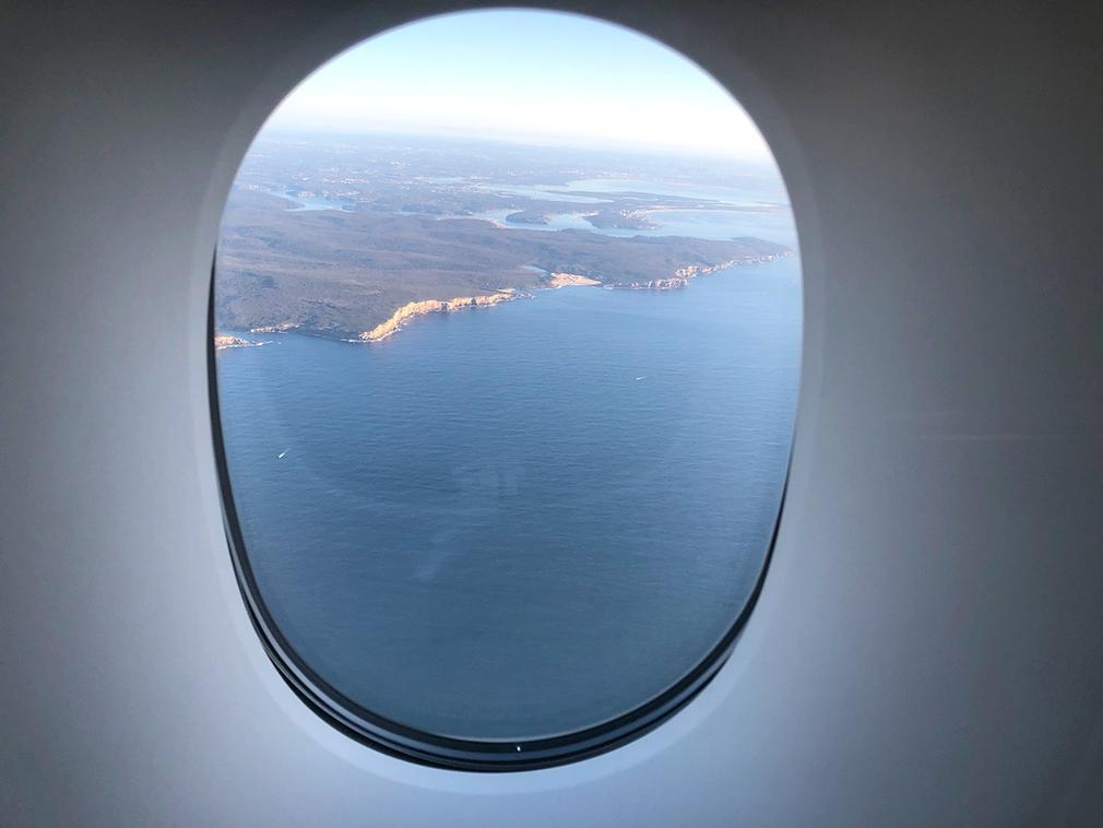 Approach to Sydney on a sunny day