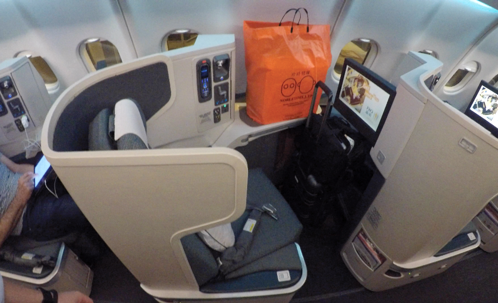 Cathay Pacific CX133 Business Class seat