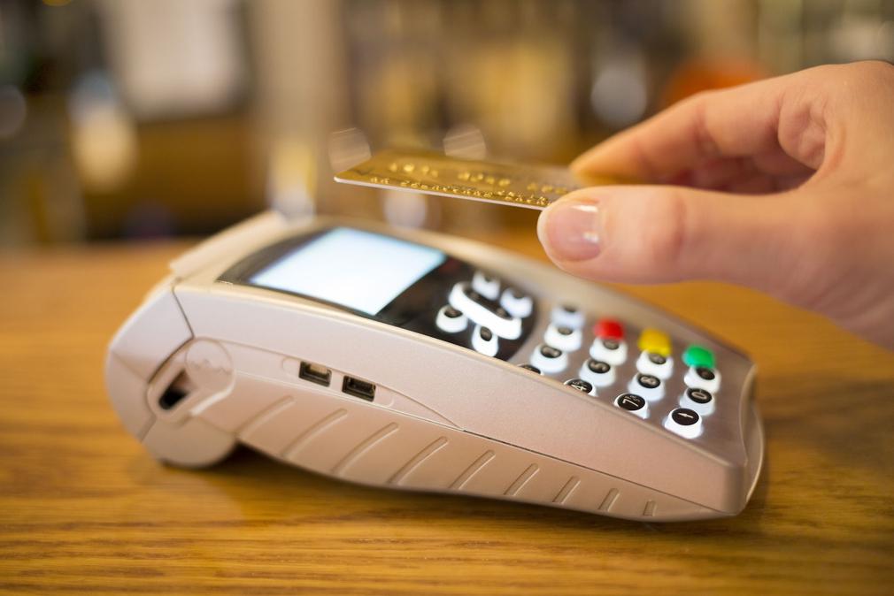 EFTPOS machine and credit card