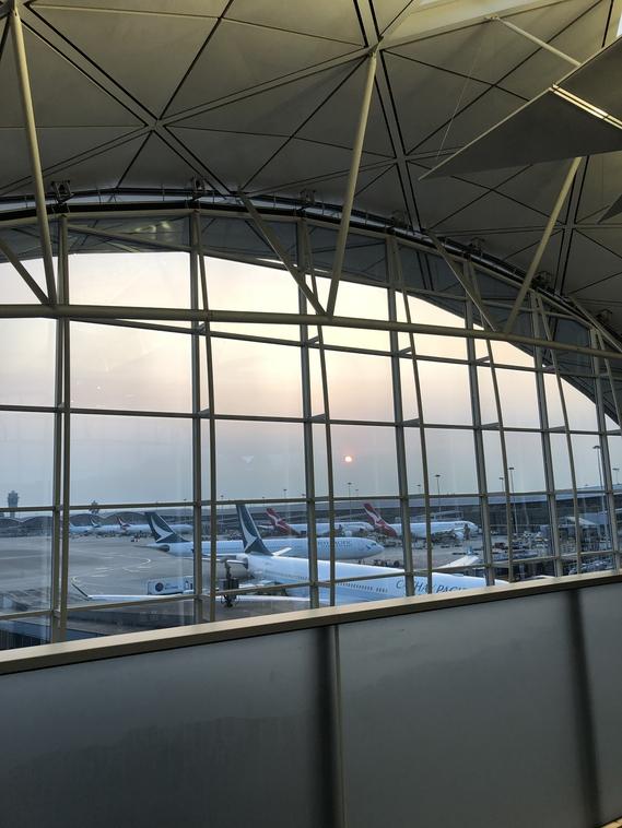 Hong Kong Airport The Wing Lounge