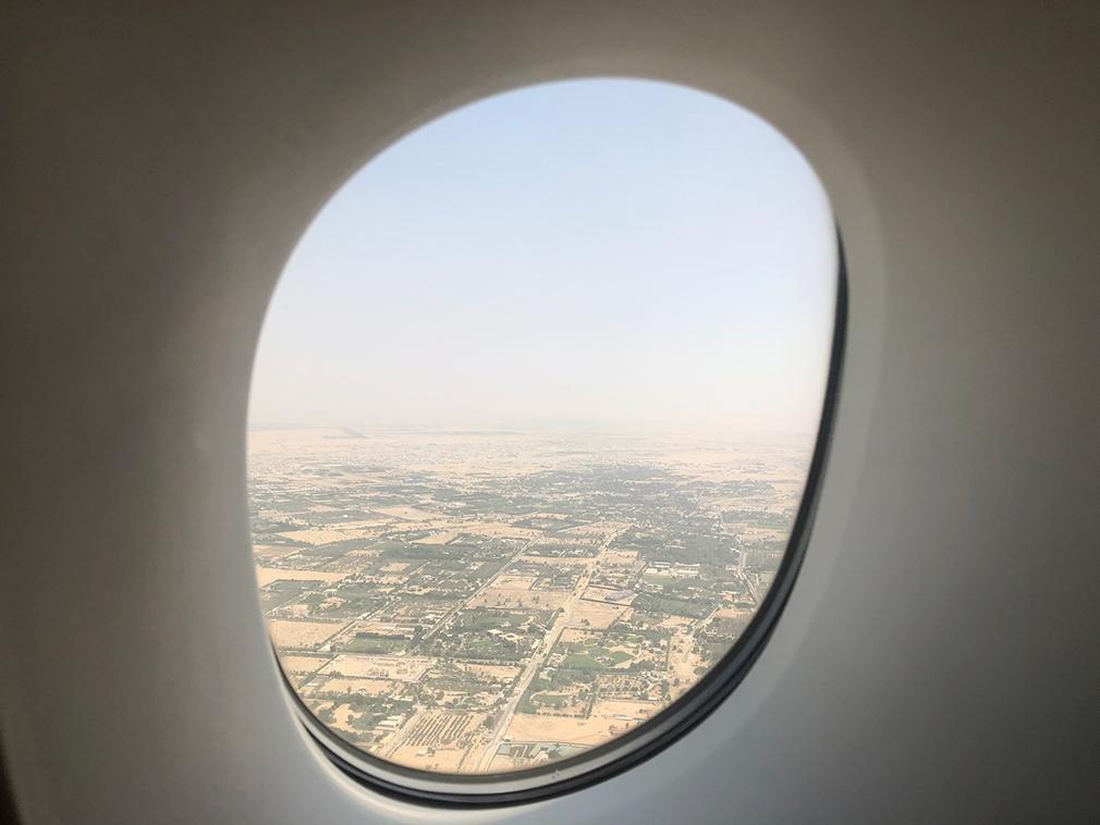EK412 takeoff over Dubai