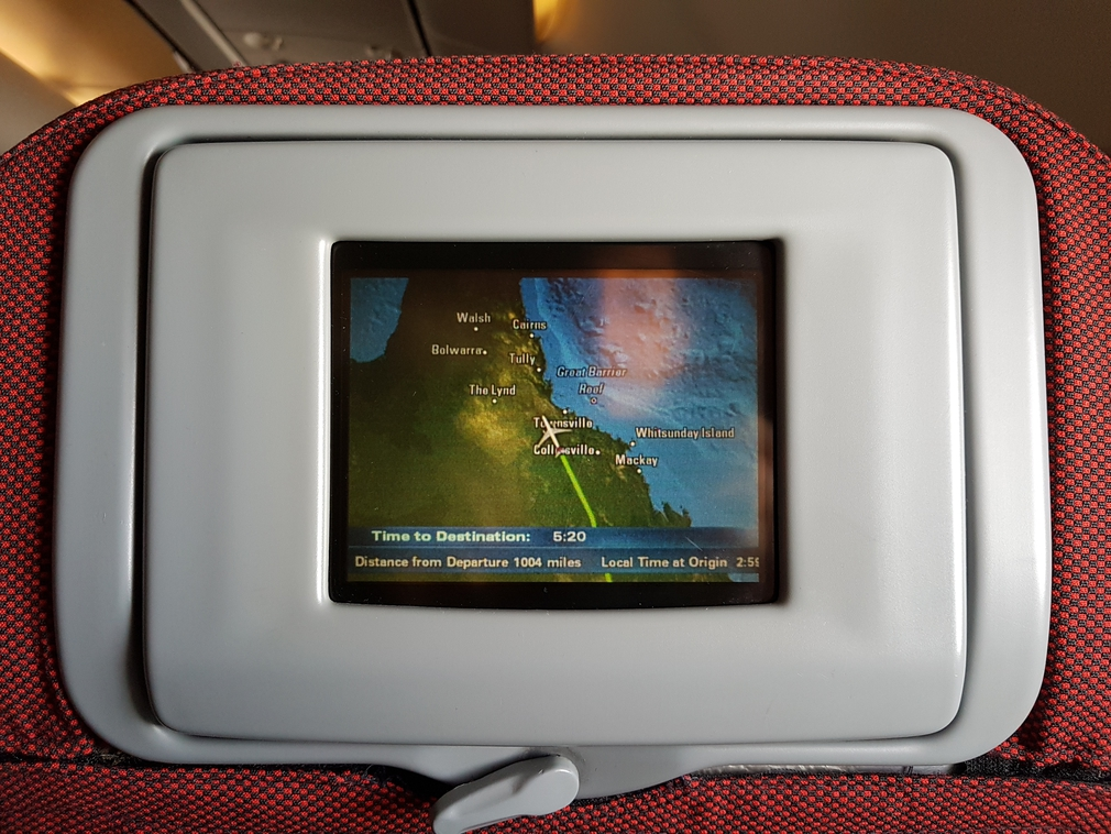 The route from Sydney to Manila on a seven inche screen