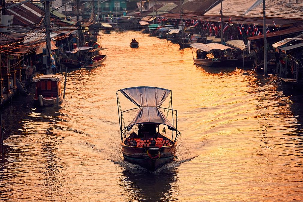 Traditional Bangkok Floating Market