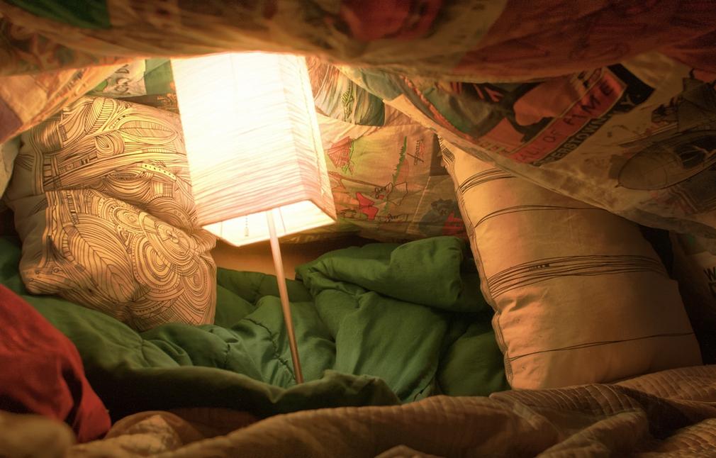 Pillow fort for children