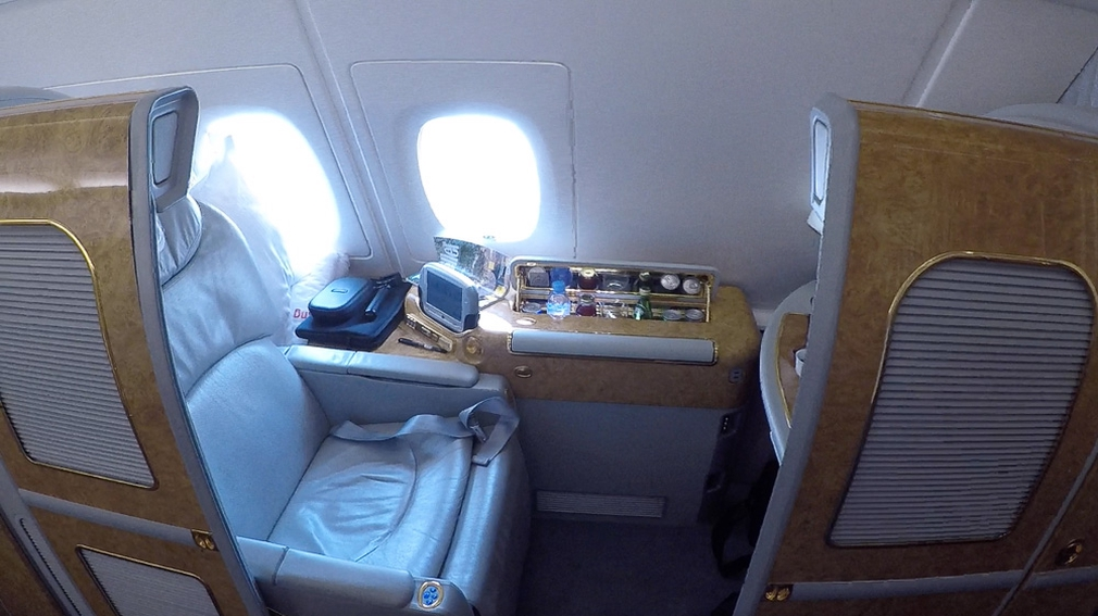 Emirates First Class Seat 1A