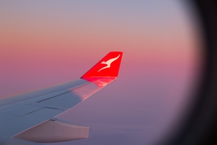 Airplane wing hero Qantas