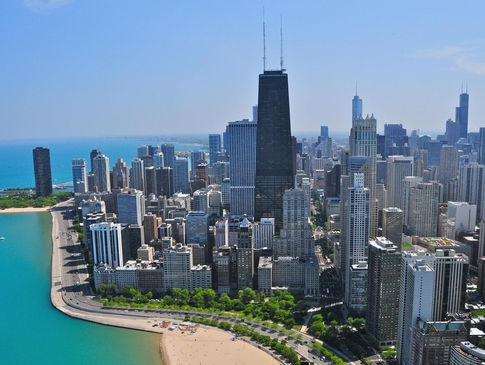 Chicago famous skyline