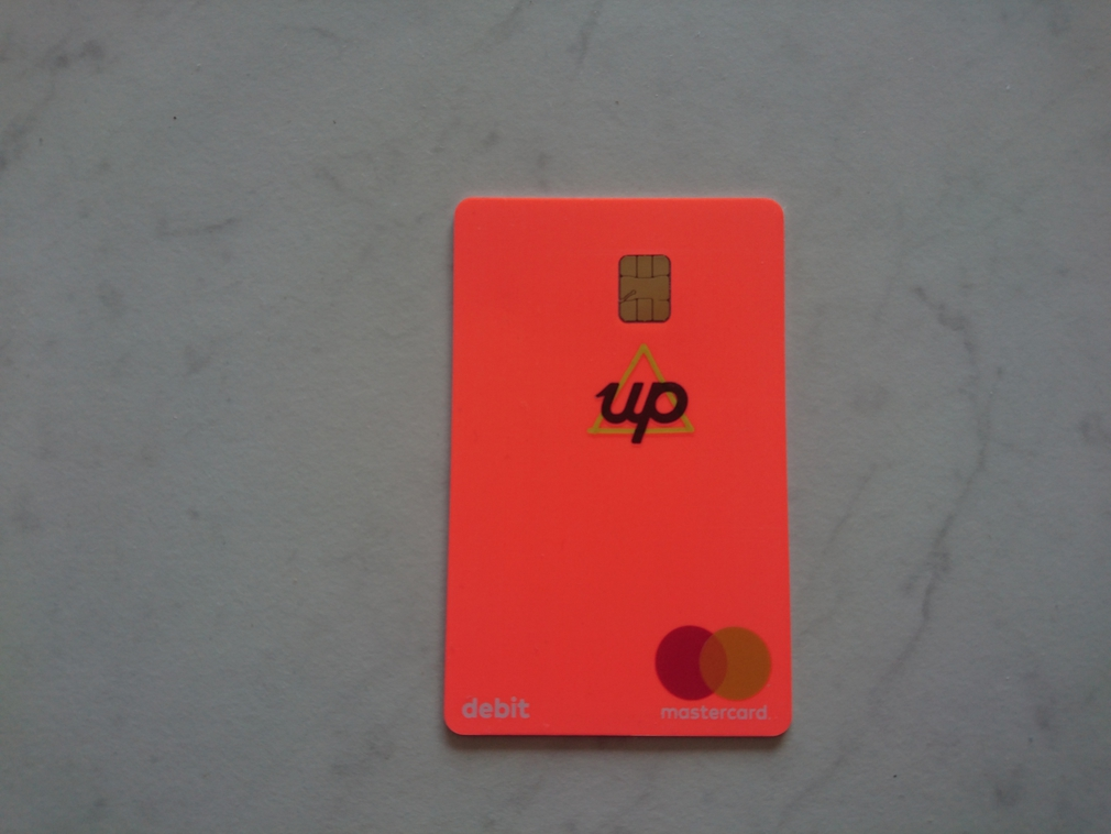 Up bank physical card