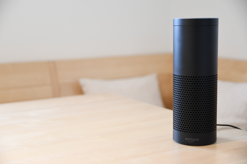 Alexa speaker on table