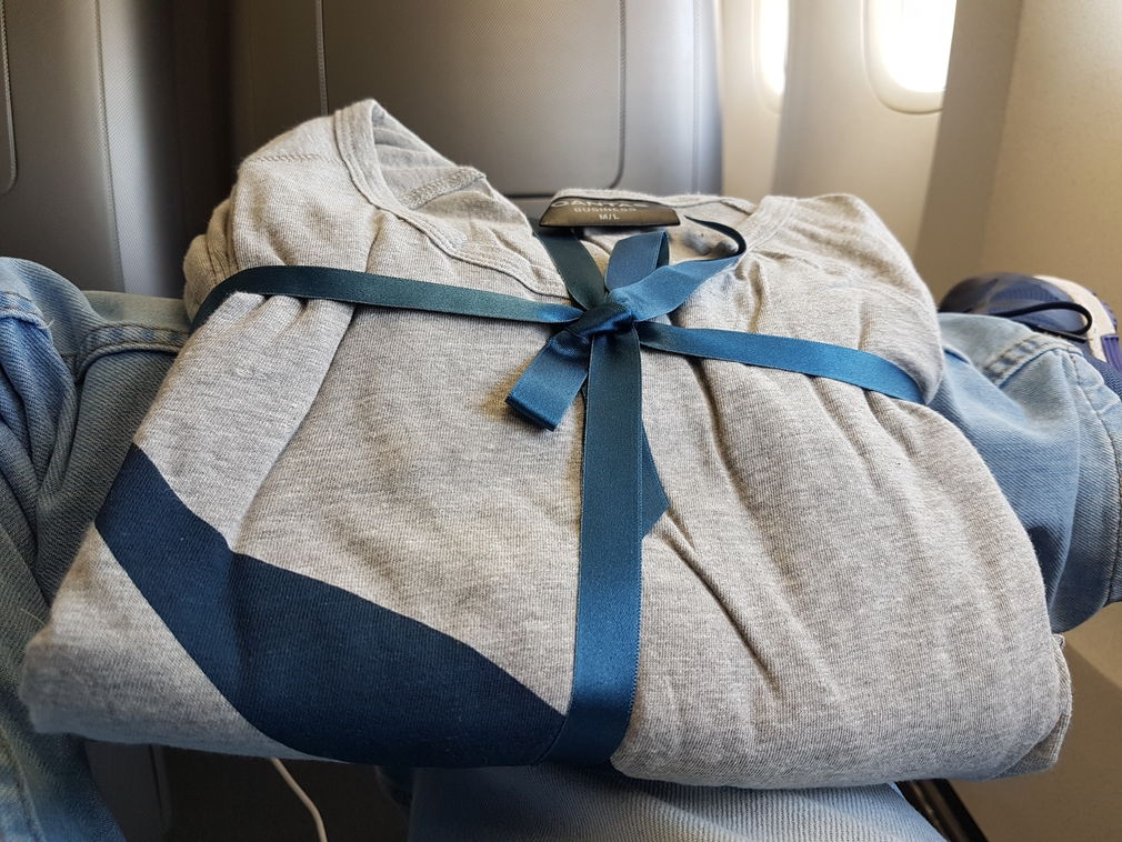 Qantas Business Class pyjamas