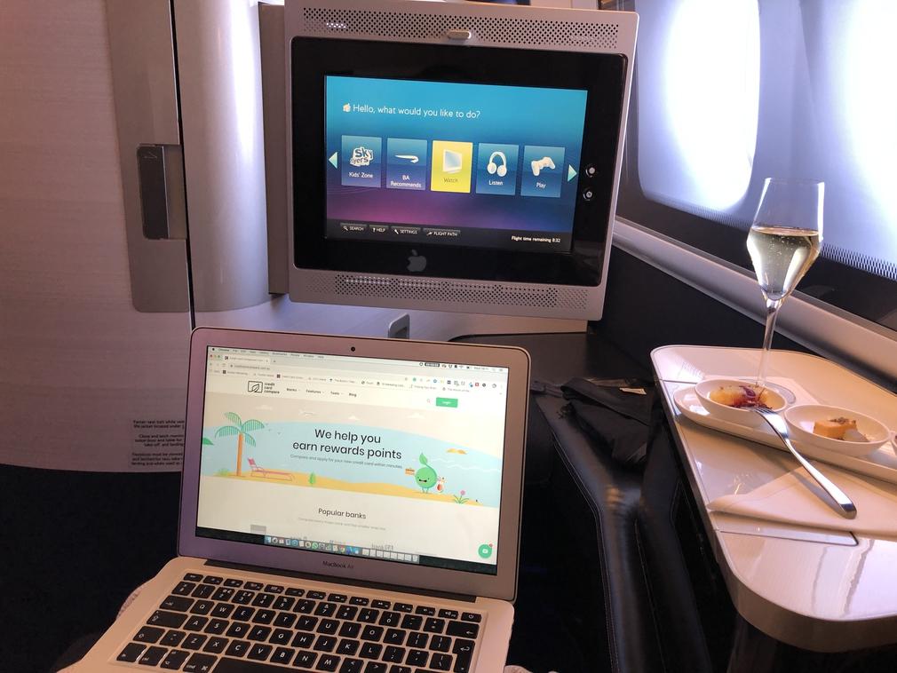 British Airways First Class London Beijing 777 BA139