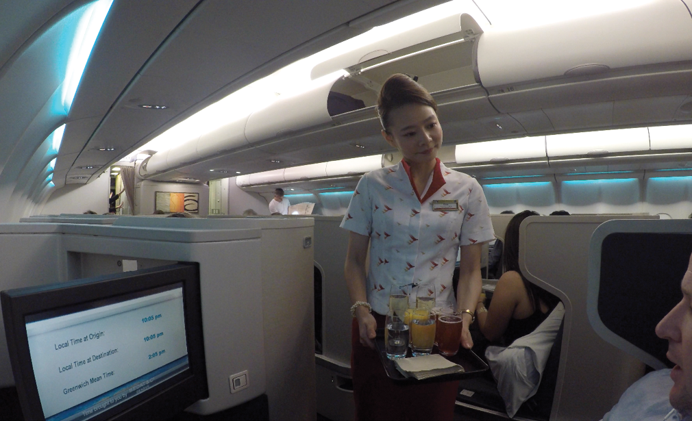 CX133 Cathay Pacific Business Class service