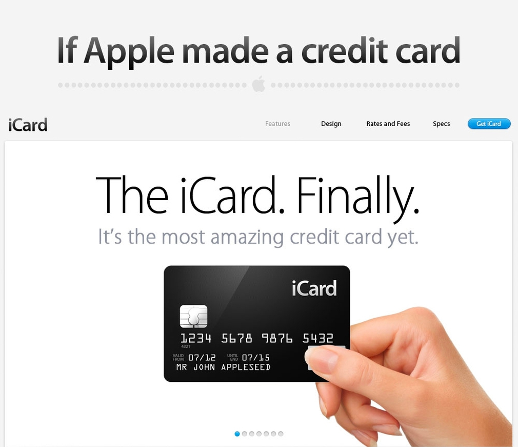 "Credit Card Compare's ""If Apple Made a Credit Card"" product mockup"