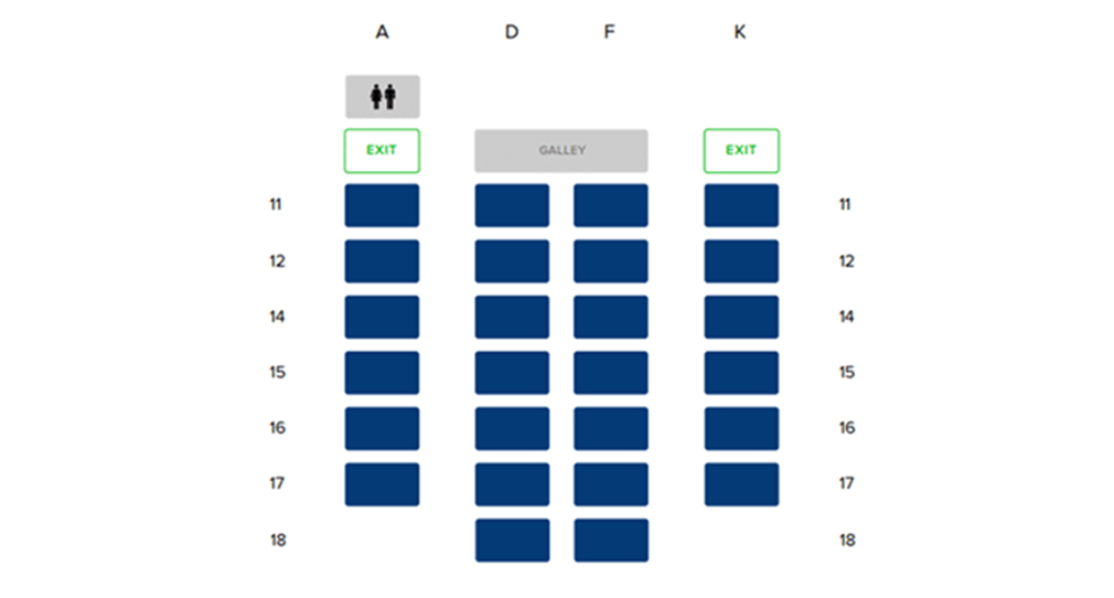 Singapore Airlines Business Class seating map