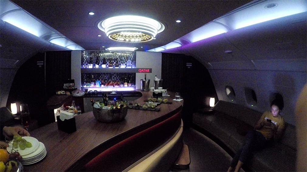 Qatar A380 Business Class Bar