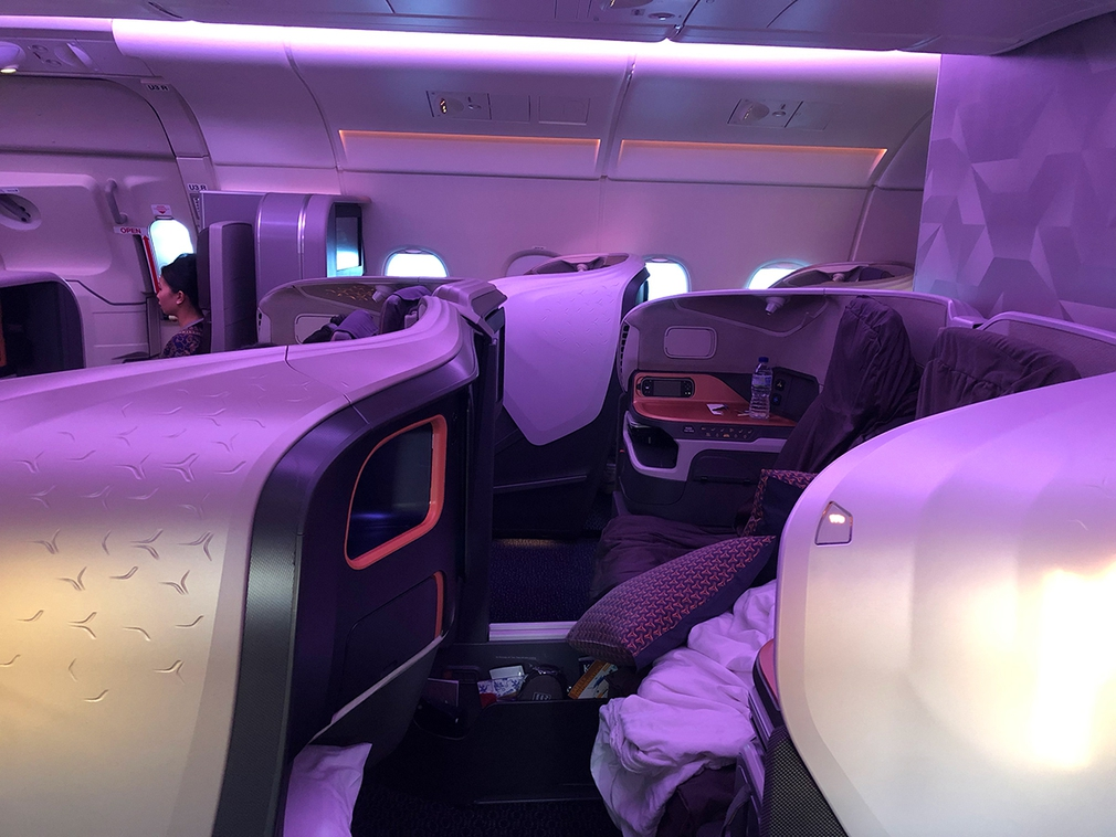 Middle seats in Singapore business class