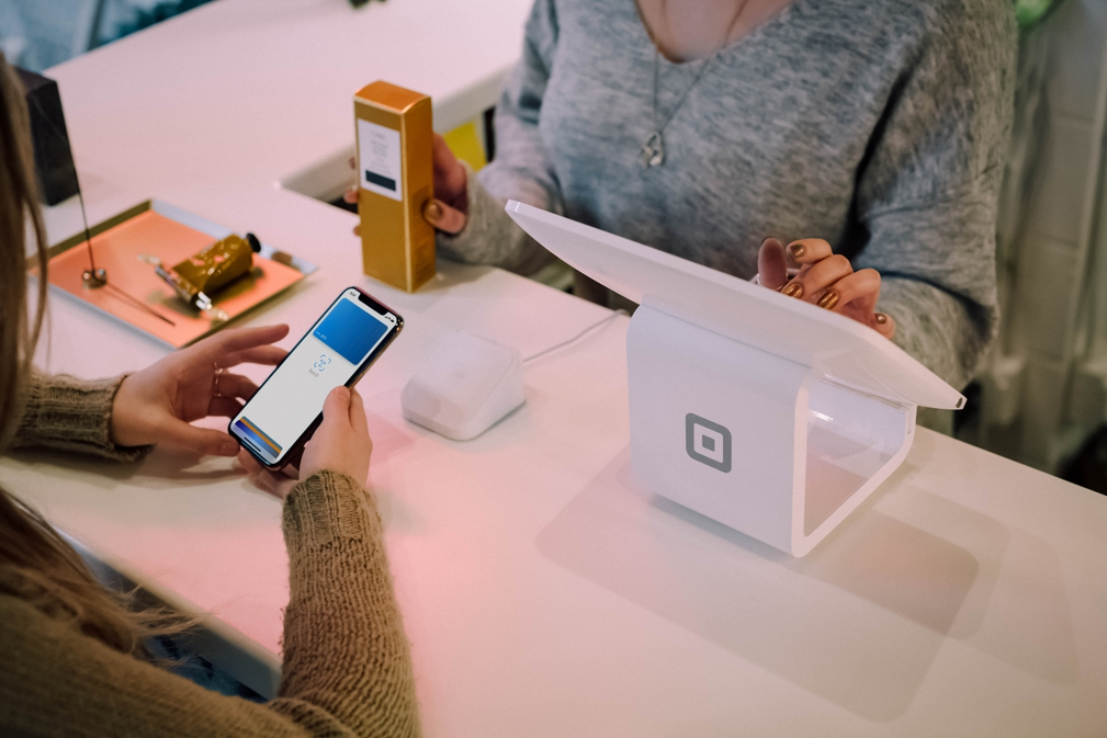 Point of sale machine from Square