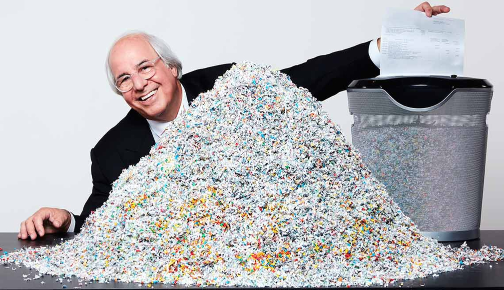 Frank Abengale With Paper Shredder