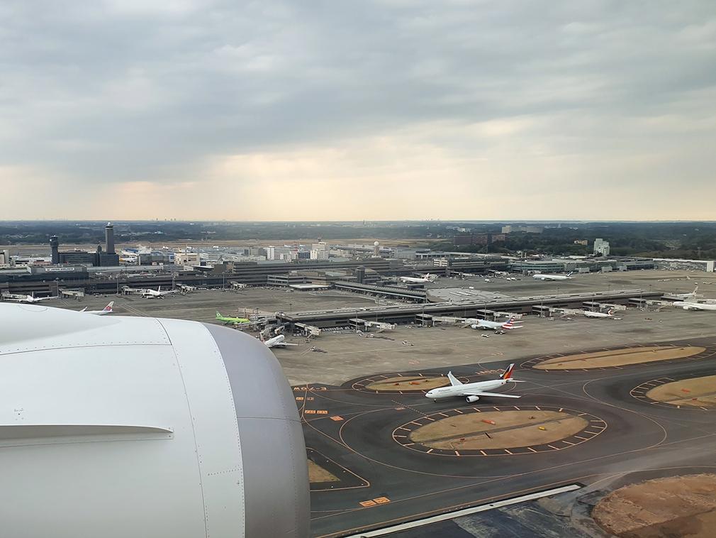 Arriving into Narita Airport, Tokyo