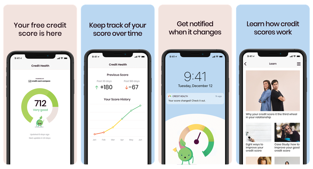 Credit Health app by Credit Card Compare