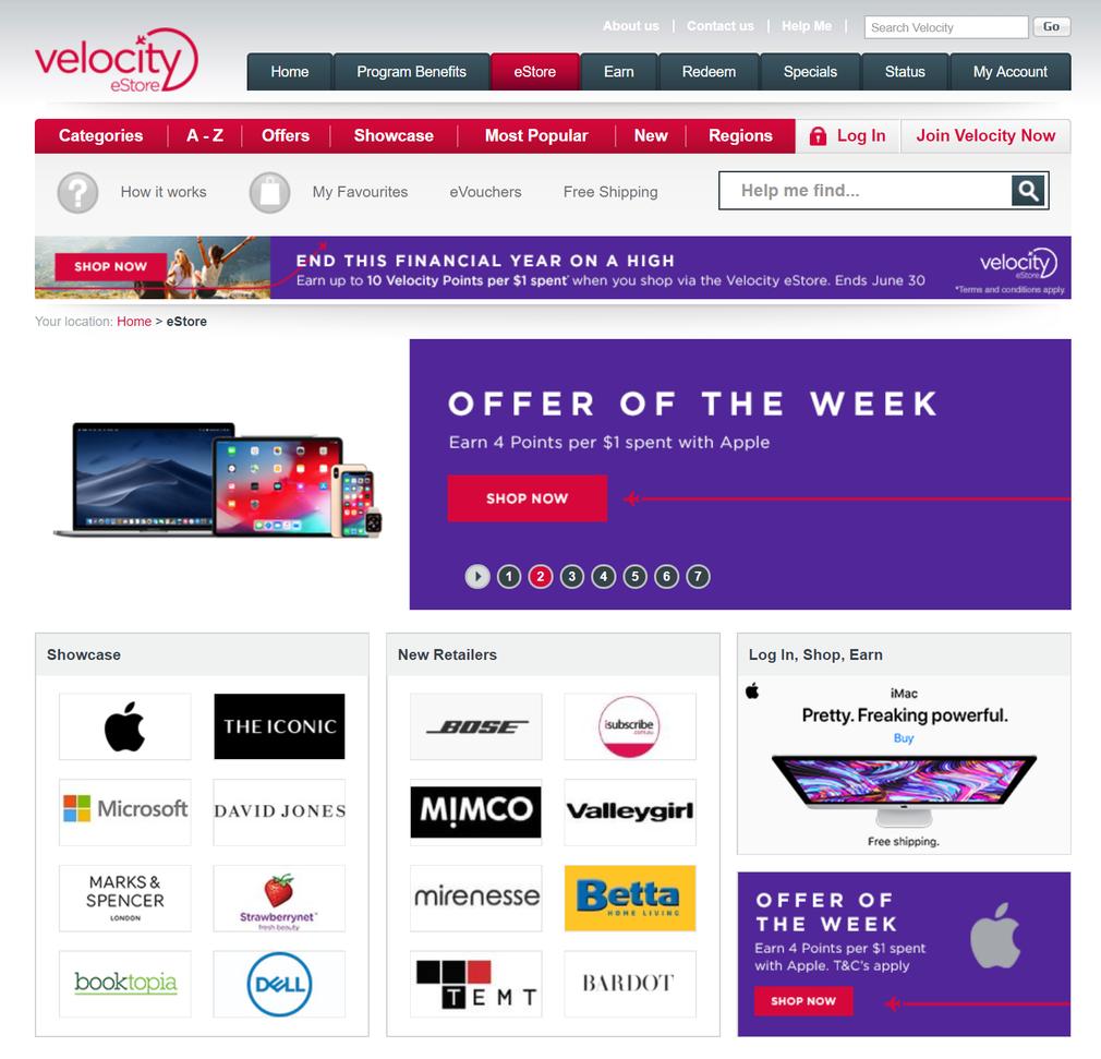 Virgin online shopping portal