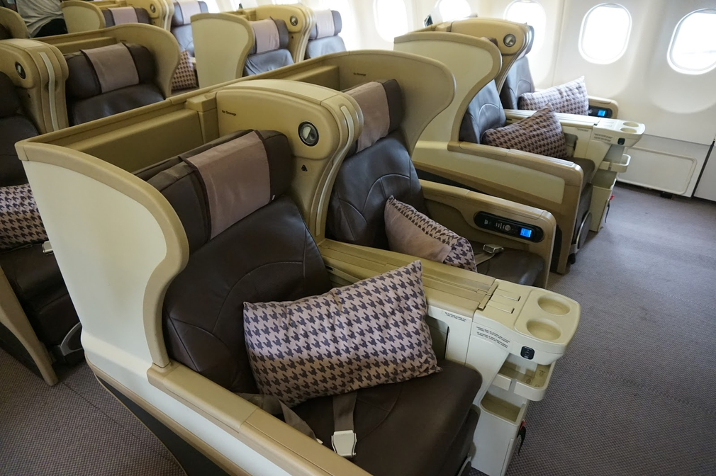 Business Class 2009 seats Singapore Airlines