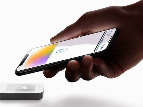 Apple card hand payment