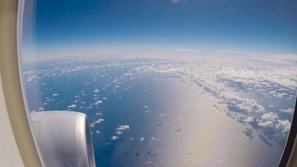 Tasman Sea from flight AA72